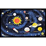 Concord Global Rugs Fun Time Collection Outer Space Navy Rectangle 3'3