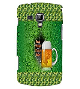 PrintDhaba Beer Mug D-4581 Back Case Cover for SAMSUNG GALAXY S DUOS 2 S7582 (Multi-Coloured)