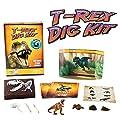 T-Rex Dinosaur Dig Kit -Excavate 3 Real Dino Fossils!