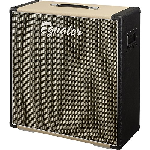 "Egnater Renegade-410X 4X10"" Extension Guitar Speaker Cabinet, Black/Biege Straight"