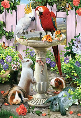 Bird Bath - 100 Piece Jigsaw Puzzle By SunsOut Inc.
