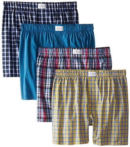 Tommy Hilfiger 男士格纹纯棉内裤 4条装图片