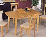 Dinner Room Furniture Maple Finish Dining Table w/Butterfly Leaf