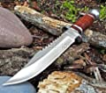 Survival Cherry Wood Hunting Bowie Knife 10.5 Inch Fixed Blade with Sheath Jwd28