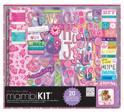 Me and My BIG Ideas BOX-60 12-Inch by 12-Inch Scrapbooking Kit, Tie Dye Peace Friends