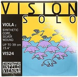 Vision solo ヴィジョンソロ ヴィオラ弦 C線  シンセティックコア4/4 タングステンシルヴァー VIS24