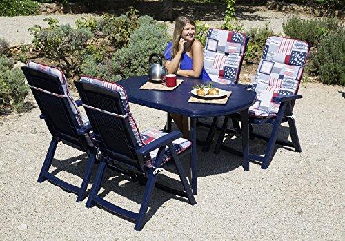 BEST 9-tlg. Gartenmöbel-Diningset »Elise« blau jetzt kaufen