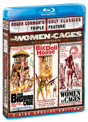 Cover art for  The Women in Cages Collection (Roger Corman's Cult Classics Triple Feature) (The Big Bird Cage / Big Doll House / Women in Cages) [Blu-ray]