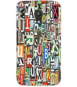 MOTOROLA MOTO G2 CHARACTERS Back Cover by PRINTSWAG