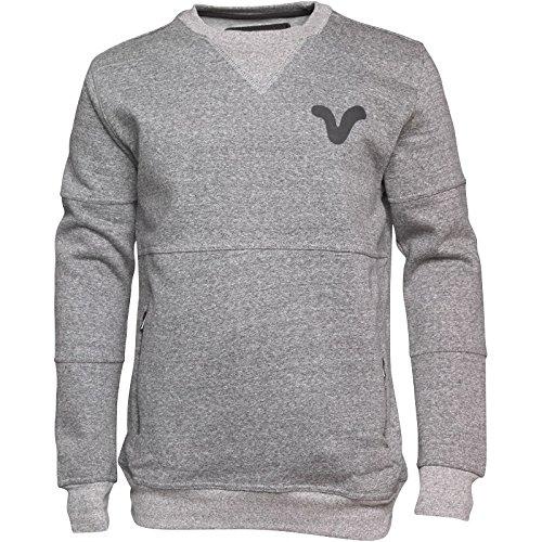 """Herren Voi Jeans Runner Sweatshirt Anthrazitmeliert/Schwarz Jungs Männchen (M To Fit Chest 38-40"""" Euro Medium)"""