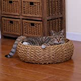 """PETPALS GROUP Paper Rope Round Bed, 8 x 8 x 11"""""""