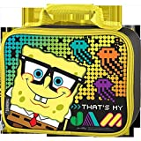 Thermos Sponge-Bob Rectangle Soft Lunch Kit - Black with Yellow Trim