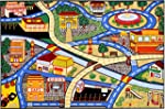 Kids Rug Multi-color Children's City...