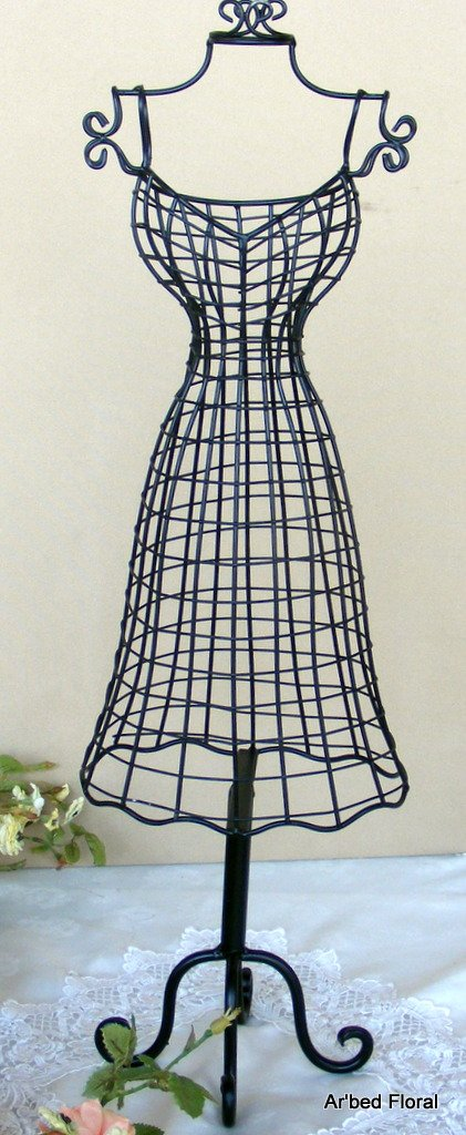 shabby chic dress form or mannequin jewelry holder