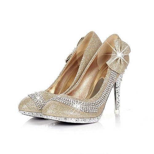 Charm Foot Fashion Bows Womens Platform High Heel Stiletto Mary Jane Pum