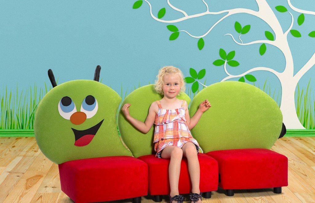 Kindersofa Raupe Sitzgruppe Kinderzimmer günstig kaufen
