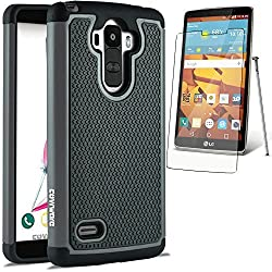 LG G Stylo / LG G Stylus (LS770) Case COVRWARE - Armor Defender Series Protective Case [ Include HD Invisible Film ] - Gray