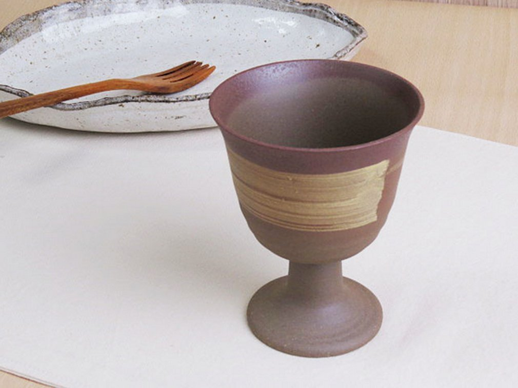 Wine cup Japanese 230cc Porcelain mino traditional pottery