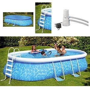 Friedola 12305 quick pool set manhattan 610 x 366 x 122 for Garten pool 366x122