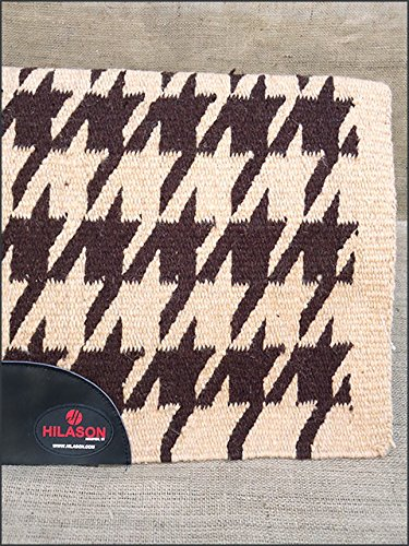 G233 Hilason Western New Zealand Wool Gel Saddle Blanket Pad Tan Dark Brown