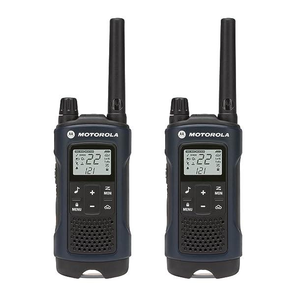 PAR DE RADIO RECARGABLE DE DOS VÍAS MOTOROLA Talkabout T460 (azul oscuro)