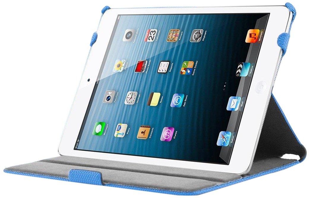 KHOMO ® Funda Azul Antideslizante Piel (PU) Texturizada Estilo 3D con Soporte y Correa de Mano para Nuevo Apple iPad 5 Air (2013)  Electrónica Comentarios de clientes y más información