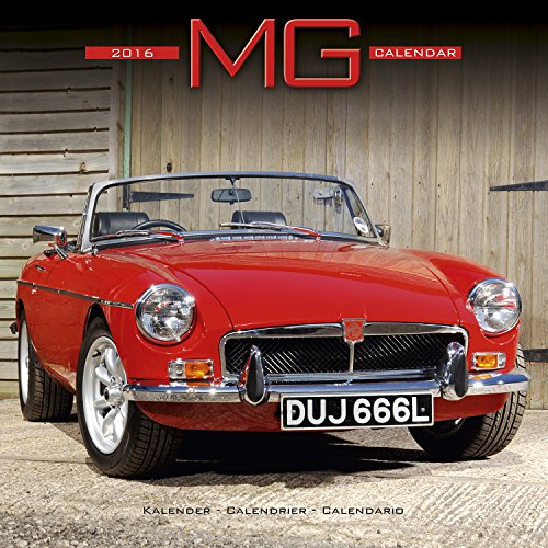 MG Calendar- 2016 Wall calendars - Car Calendar - Automobile Calendar - Monthly Wall Calendar by Avonside