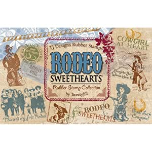TJ Designs Rubber Stamp Set, Rodeo Sweethearts: Amazon.ca ...