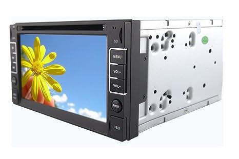 "Rungrace Lecteur DVD Autoradio Multimedia 6.2"" 2 Din Ecran TFT avec Bluetooth, Navigation GPS"