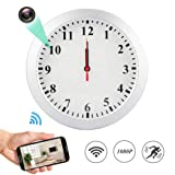 MINGYY 1080P WiFi Spy Hidden Camera Wall Clock Motion Detection Video Camera Remote View Camcorder Baby Pet Nanny Monitor Cameras for Home Surveillance Security