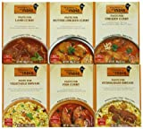 Kitchens of India  Curry Paste Variety Pack, 3.5 Ounce Boxes (Pack of 6)