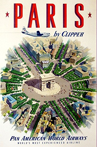 pan-am-paris-1951-wonderful-a4-glossy-art-print-taken-from-a-rare-vintage-travel-poster