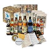 Bayrische Bier Spezialitäten (9x0,5l) INKL. Bierdeckel - Männergeschenk zum Geburtstag / Weihnachten / Vatertag (Geschenkkarton ++ Bier-Info ++ Tasting-Anleitung). Das ausgefallene und besondere Geschenk