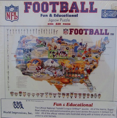 World Impressions Inc. - ArtMap N. American Pro Football Puzzle by