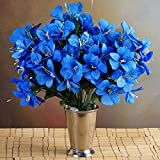 96 Silk Mini Primrose Flowers - Royal Blue