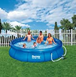 #7: BESTWAY 8FT x 26IN FAST SET SWIMMING POOL with filter pump #57100