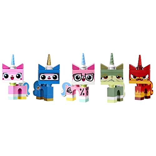LEGO Movie Unikitty Collection (Set of 5) - Unikitty Biznis Queasy Astro and Angry Kitty Set