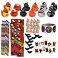 Mega Halloween Toy Novelty Assorment 12 Halloween Ducks 12 Halloween Pencils 12 Halloween Sticker Sheets 48 Halloween Erasers 72 Halloween Glitter Tattoos Sticker Roll by Number 1 in Service