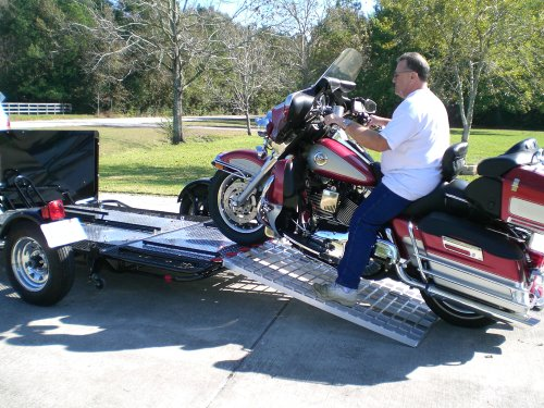 Aluminum Ramp 4 ft. USA - Motorcycles Onto Trailers - 5244MCDR Ramp (Motorcycle Trailer compare prices)