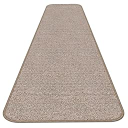 Skid-resistant Carpet Runner - Pebble Beige - 4 Ft. X 27 In. - Many Other Sizes to Choose From