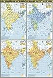 India Summer : Temperature, Pressure, Rainfall & Winds Map