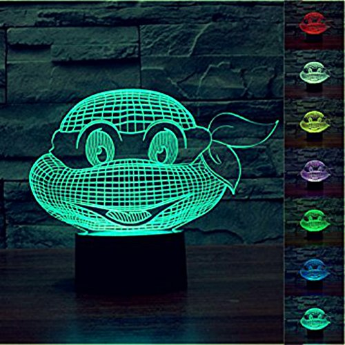 Teenage Mutant Ninja Turtles 3D LED Night Light