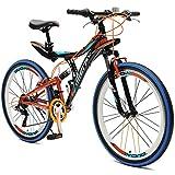 """Merax Yond 26"""" Dual-Suspension 21 Speed Mountain Bike"""