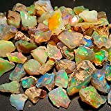 Amazing Quality Natural Ethiopian Opal Rough Lot 1 Piece 3.00ct Amazing Multi Fire Welo Fire Opal Rough Untreated Rough Raw Gemstone