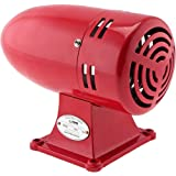 Vixen Horns VXS-9075R Industrial Alarm Siren 110V (Color: Red, Tamaño: Industrial Stainless Steel Red (Standard))