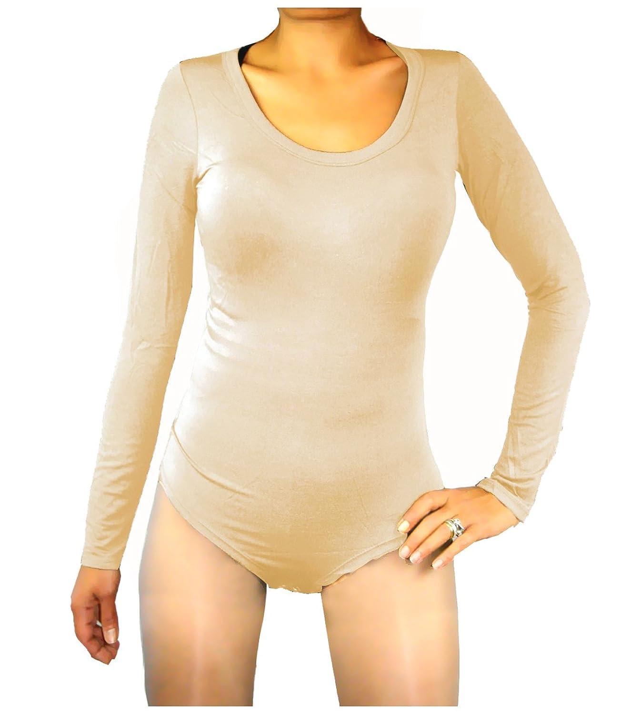 Body Damen Langarmshirt Langarm Bodysuit Top Größe S /M