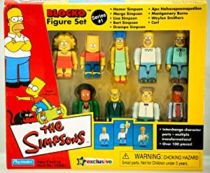 Amazon.com: The Simpsons Blocko Figure set: Toys & Games