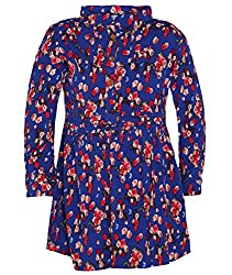 Chipchop Girls' Dress (WFGD0002B_Blue_5-6 Years)