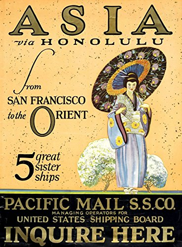 pacific-mail-steamship-co-asia-via-honolulu-wonderful-a4-glossy-art-print-taken-from-a-rare-vintage-