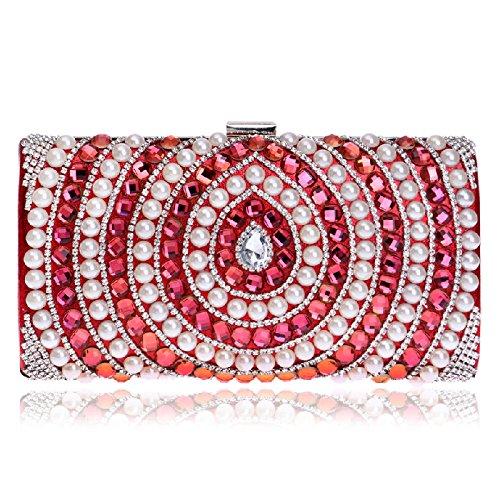europaische-und-amerikanische-fashion-woman-holding-ein-bankett-fur-pearl-abend-tasche-rot
